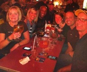 (L-R) Andrea, Jill, me; Dave, Matt and Leslee