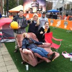 Tent City covers the Lair Green in Mountaineer Pride