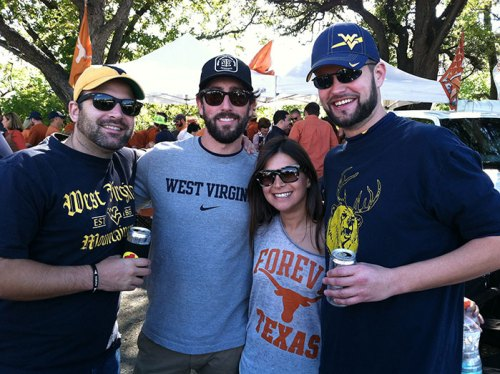 WVU and Texas fans tailgating