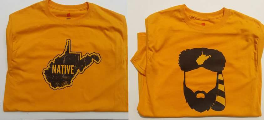 Native WV and Mountaineer Head t-shirts