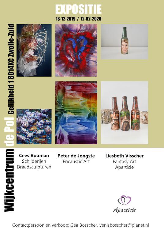 Expositie verscheidene kunstenaars tot en met 12 februari 2020 in Wijkcentrum de Pol