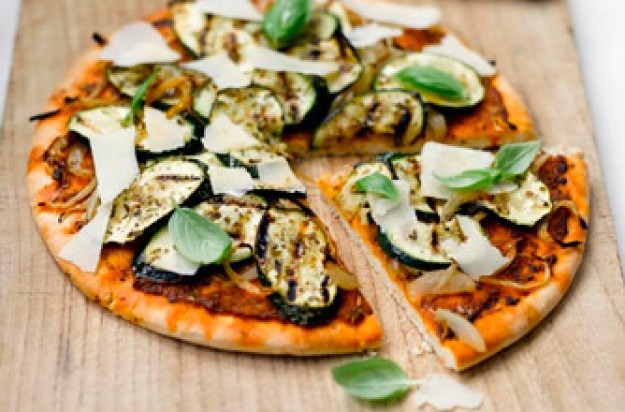 Weight Watchers Courgette Pesto and Parmesan Pizza