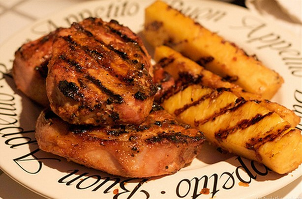 weight watchers grilled pineapple pork chops recipe