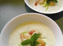 weight watchers cucumber and yogurt soup with prawns recipe