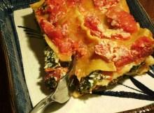 Weight Watchers Spinach and Tofu Lasagna recipe
