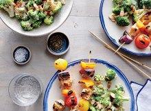Weight Watchers Spicy Buttermilk Chicken and Vegetable Kebabs recipe