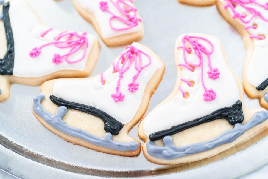 Ice skate cookies