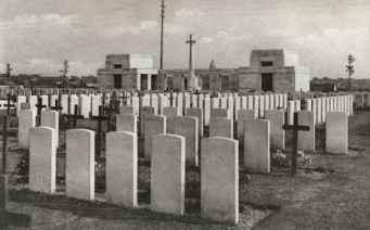 Passchendaele New British Cemetery in the 1930s