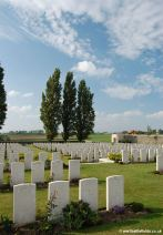 Graves at Passchendaele New British Cemetery