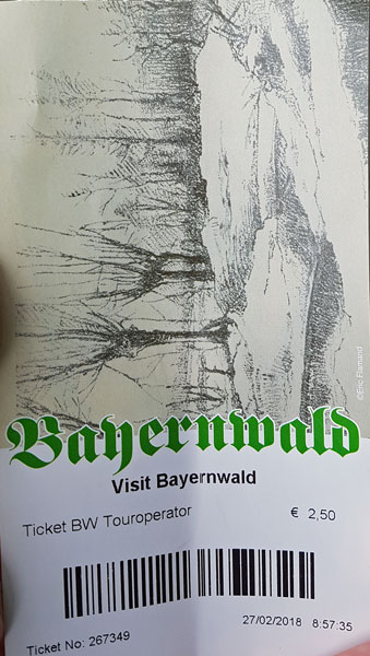 Ticket for the Bayernwald trenches