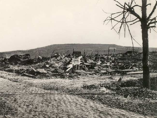 A view of Kemmel Hill shortly after the War