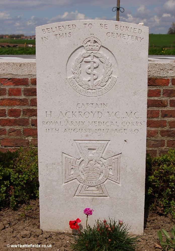 Special memorial stone to VC winner Captain Harold Ackroyd
