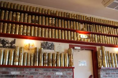 Polished shell cases at Hooge Crater Museum