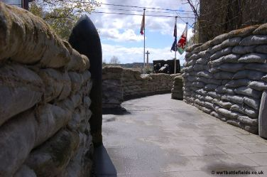 Trenches at Hooge Crater Museum