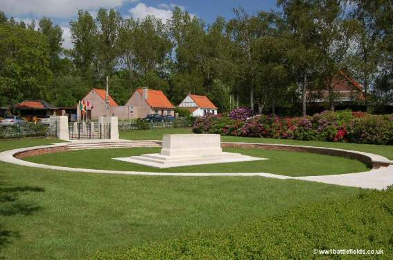 Symbolic crater at Hooge Crater Cemetery