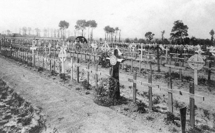 Plot 14, Lijssenthoek Military Cemetery, shortly after the War