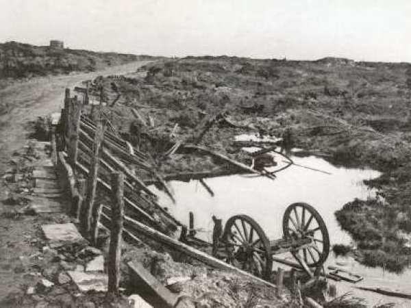 Wytschaete in ruins