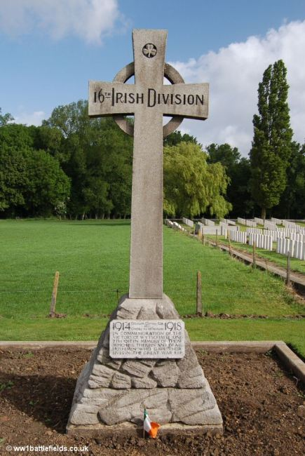 The memorial to the 16th Irish Division at Wytschaete