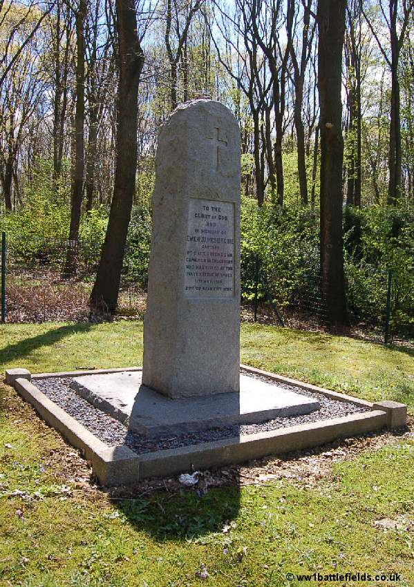 Captain Brodie's memorial in Glencourse Wood