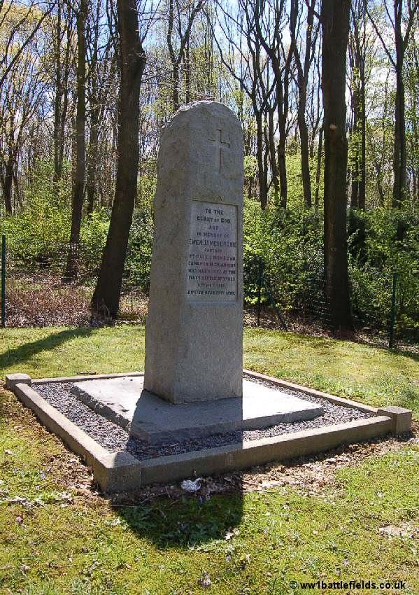 Captain Brodie's memorial in Glencourse Wood