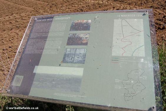 Orientation panel near Glencorse Wood