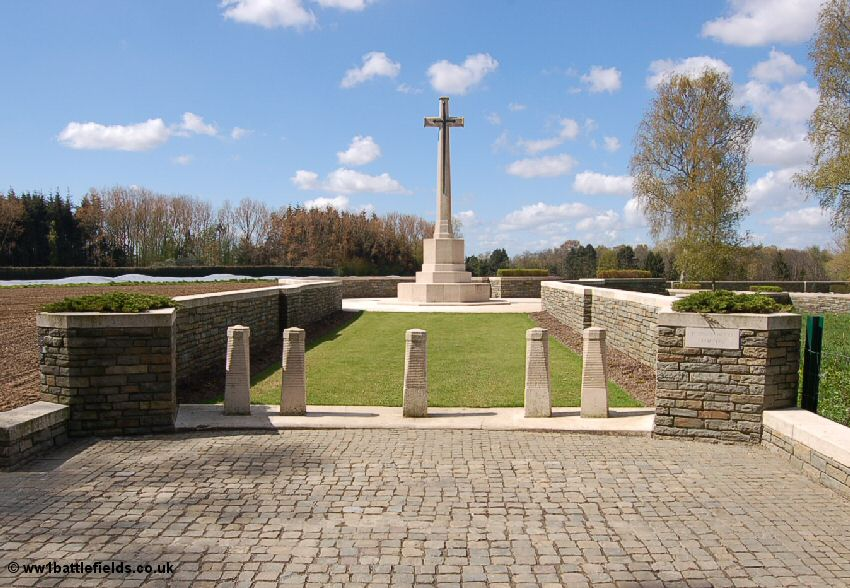 The entrance way to Polygon Wood Cemeter