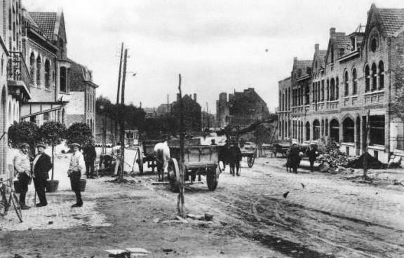 The Menin Gate site in the mid-1920s