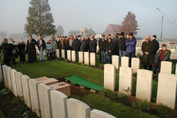 Burials of British soldiers at Cement House Cemetery, 14th November 2005