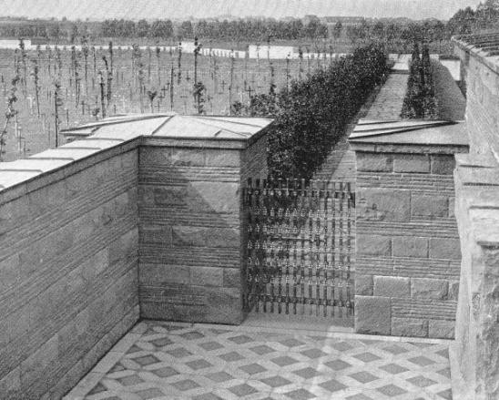 A view of Langemark German Cemetery in the 1930s