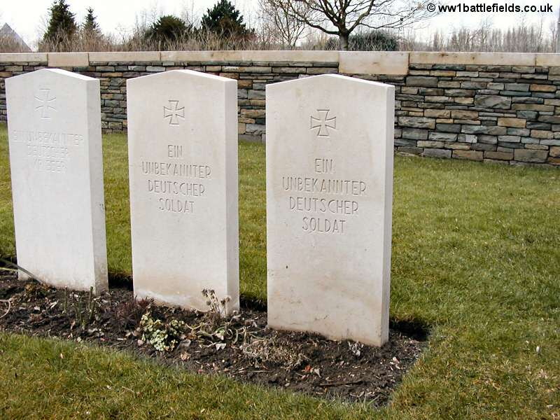 Vermelles British Cemetery - German graves