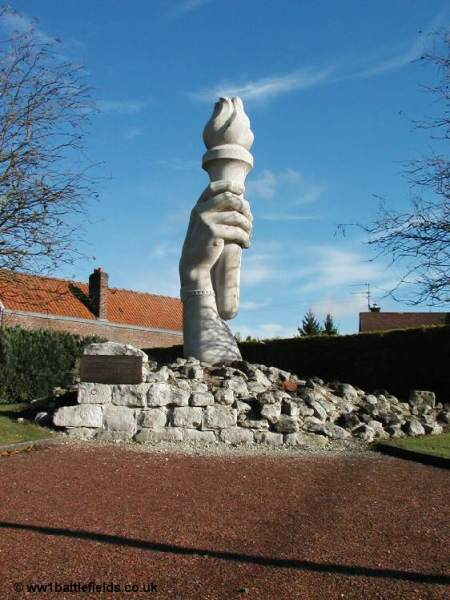 The unusual village war memorial at la Targette