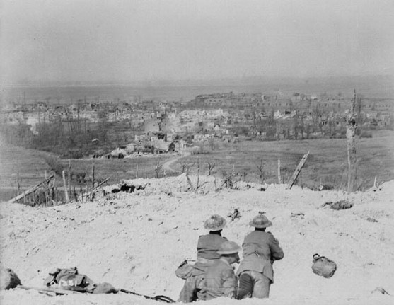 The view from Vimy ridge after its capture. Image from Library and Archives Canada