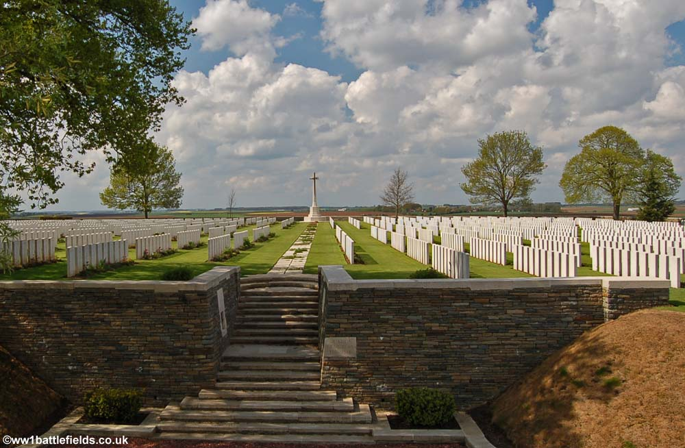View of Guards Cemetery, Lesboeufs, today