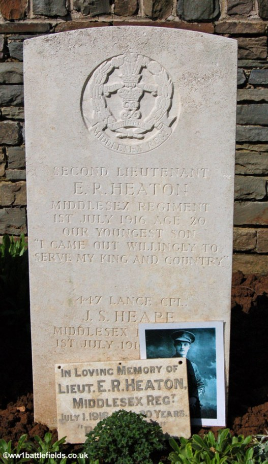 Grave of Lance Corporal Heape and Second Lieutenant Eric Heaton