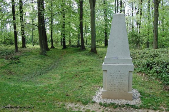 Site of the South African HQ during the Delville Wood fighting