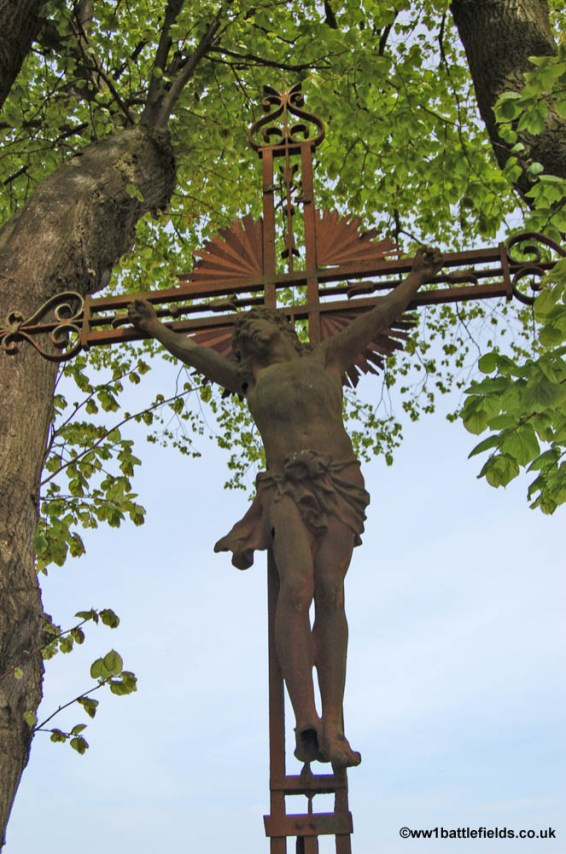 Crucifix Corner below High Wood Crucifix Corner below High Wood