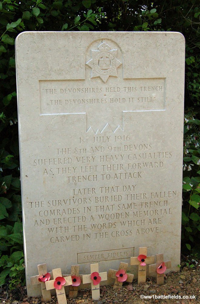 The inscription at Devonshire Cemetery