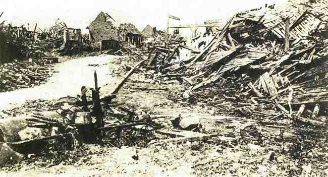 Mametz in ruins after capture on the 1st of July