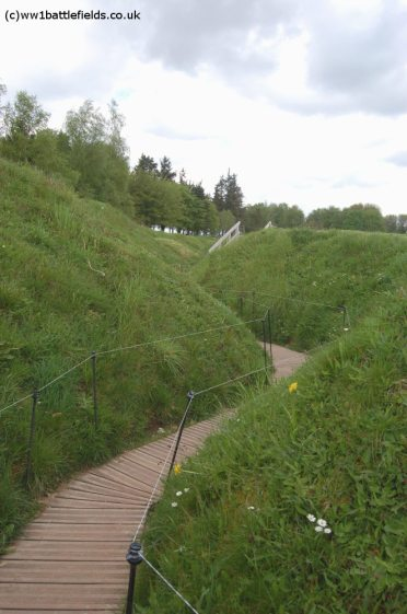 Preserved trenches at Newfoundland Memroial Park