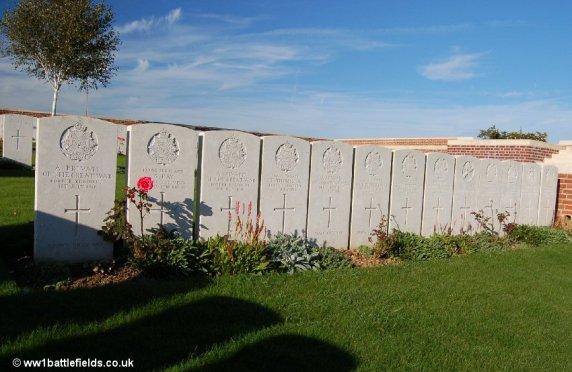 1st of July 1916 graves of men from the Border Regiment