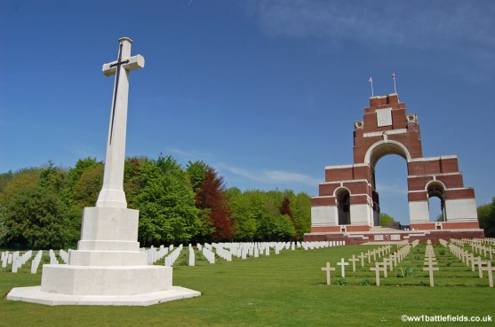 CWGC headstones and French Crosses can be seen together