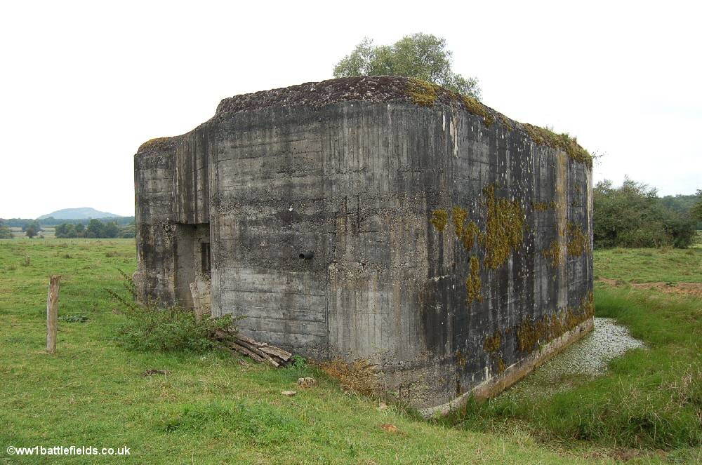 A large bunker near the village of Mangiennes
