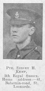 Sidney H Kemp