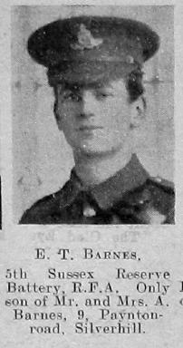 Barnes, E T