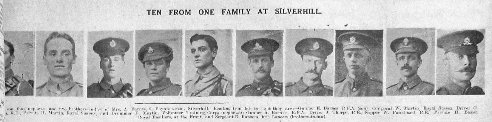 Barnes, Martin, Thorpe, Pankhurst, Baker & Ransom