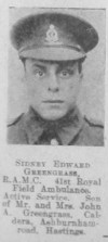 Sidney Edward Greengrass