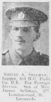 Sellman, Sidney Alfred