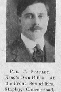 Frederick W Stapley