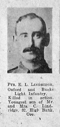 Ernest L Lindridge