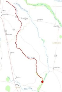 300x444 New River, Tifton, Brookfield, Tift County, Cook County, Berrien County, GA, in Streamer, by John S. Quarterman, for WWALS.net, 4 July 2014